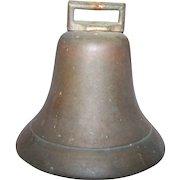 Vintage Brass Metalware Cow Boat Bell Sounds Wonderful Original Clapper