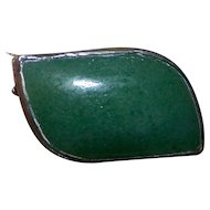 A Very Sweet Tiny  Vintage Green ONYX Gemstone Pin / Brooch