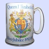1977 WOOD & SONS PRIDE of BRITAIN Silver Jubilee Royalty Queen Elizabeth II Tankard