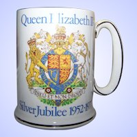 1977 WOOD & SONS PRIDE of BRITAIN Silver Jubilee Royalty Queen Elizabeth II Tankard