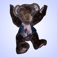 Wonderful Sweet Vintage Mink Fur Jointed Teddy Bear Looking for a Forever Home