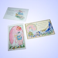 3 Lovely Vintage Paper Easter Postcard Lot Simply Wonderful