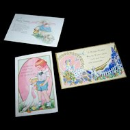3 Lovely Vintage Paper Easter Postcard Lot Simply Wonderful