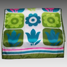 If Your Feeling Groovy  This  FLOWER POWER Pop ART Acetate Fashion Scarf is FOR YOU