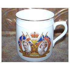 Vintage  Souvenir Royalty Coronation Mug Delphine China 1937