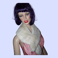 A Beautiful Soft Rescued Real Rabbit Fur Collar Great for Re-Purpose Simply Stunning