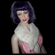 Beautiful Soft Rescued Real Rabbit Fur Collar Great for Re-Purpose Simply Stunning
