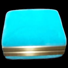 Crushed Blue Velvet Advertising Presentation Ring  Jewellery Jewelry Box PEOPLES