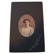 Charming Vintage Cabinet Photograph of a Pretty Young Lady Rhodes & Corkum Bridgewater NS