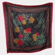 Such A Pretty Gently Used Chalis by Berkshire Acrylic Floral Wrap Shawl Scarf