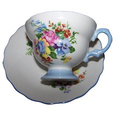 Delicate Rosina Porcelain Tea Cup  Teacup & Saucer Set Made in England Floral Themed