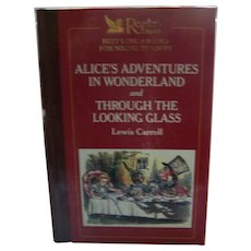 "Hard Cover Children's Book "" Alice's Adventures in WOnderland and Through The Looking Glass "" By Lewis Carroll"