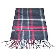 100 % Cashmere Fringed Plaid Fashion Accessory Scarf