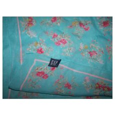 A Delicate Sheer Pretty All Over  Floral Pattern GAP Scarf Made in Italy