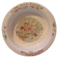 Porridge Cereal Bowl Beatrix Potter Mr Jeremy Fisher Royal Albert 1986 FW &  Co.