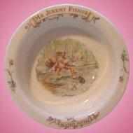 Porridge Cereal Bowl Beatrix Potter Mr Jeremy Fisher Royal Albert 1986 FW &  Co.