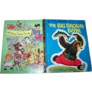 """Charming Children's Hard Cover a Little Golden Book Previously Loved """" The Big Brown Bear """""""