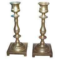 A Lovely Set of  Vintage Solid Brass Candlestick Holders Home Decor Accent