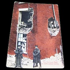 "Vintage Paper Postcard "" The German Raid on defenseless towns W.C.A.  146"