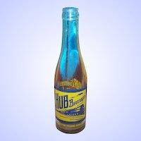TRURO Nova Scotia Canada  Advertising HUB BEVERAGES 8 OZ Soda Pop Glass Bottle