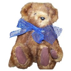 Beautiful Quality Vintage Pre-Loved Mink Fur Teddy Bear Looking for a Forever Home