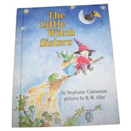 "Boo A Vintage  Halloween Inspired Children's Hard Cover Book "" The Little Witch Sisters """