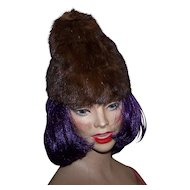 Young Ladies Vintage Mink Fur Fashion Hat By Roberta Originals