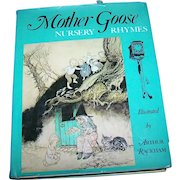 Hard Cover Children's Book Mother Goose Nursery Rhymes Illustrated by Arthur Rackham
