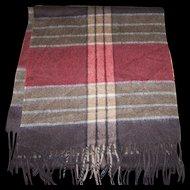 Beautiful  Quality Gently Used Plaid Wool Fringed Unisex Fashion Scarf