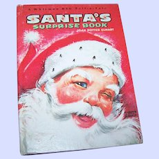 A Charming Illustrated Children's  Santa's Surprise Book Whitman Big Tell-a-tale 2248