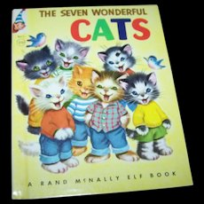 The Seven Wonderful Cats Retold by Wallace C Wadsworth Children's Book Rand McNally