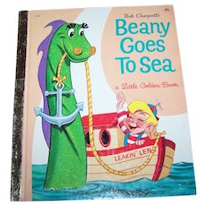 Bob Clampett's Beany Goes to Sea by Monica Hill Children's Book Golden Press #537