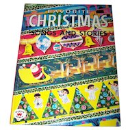 Children's Hard Cover Book Favorite CHRISTMAS Songs and Stories Ilustrated