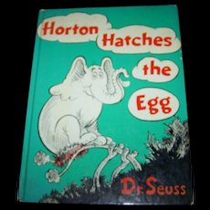 Charming Hard Cover Illustrated Children's Book Horton Hatches the Egg Dr. Seuss