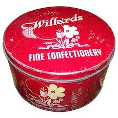 Old Farmhouse Collectible Advertising Tin Willa'rds Fine Confectionery Toronto Canada
