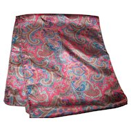 Lovely Rectangular Paisley Themed Unisex Fashion Scarf Wearable ART