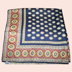 All Silk Made in Italy for Block Freres Decorative Pattern Fashion Scarf Unisex