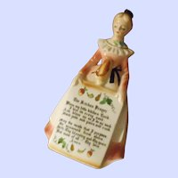 Lovely Vintage Ceramic Enesco  Kitchen Prayer  Lady Home Decor Accent  Wall Plaque Japan