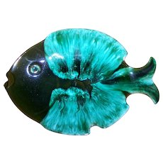 Home Decor Accent Blue Mountain Pottery Collingwood Ontario Canada Fish Ashtray