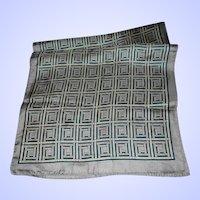 Geometric Op Art Unisex  Silk Scarf Rectangular by Glentex Wearable ART