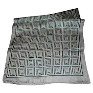 Geometric Op Art Unisex  Silk Scarf Rectangular by Glentex Wearable ART