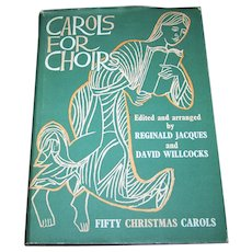 Hard Cover Music Book Carols for Choirs Featuring Fifty Christmas Songs