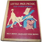 Little Pig's Picnic and Other Stories Child's Book Walt Disney - Margaret Wise Brown