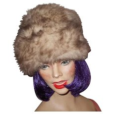 Lovely Vinage Faux Fur Style Ladies Fashion Accessory  Hat Made in England