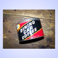 Vintage Collectible Dining Car Coffee Advertising Tin can No Lid