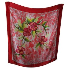 Lovely Large Floral Themed Ladies Fashion Silk Scarf Wearable ART