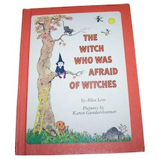 "Children's Illustrated Hard Cover Book "" The Witch Who Was Afraid Of Witches """