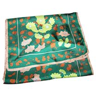 Lovely Long Rectangular Floral Vine Acetate Scarf Wearable ART