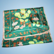 Lovely Long Rectangular Floral Vine Acetate Scarf Wearable ART