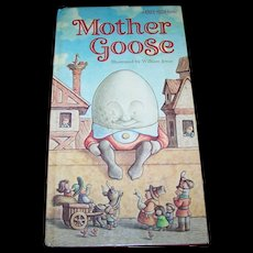 A Vintage Hard Cover Children's Book Mother Goose A Knee High Book